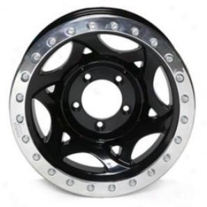 """walker Evans 15x8"""" Beadlock Racing Wheel Polished Black - 5x5.5 Bolt Pattern Back Spacing 4.25"""""""