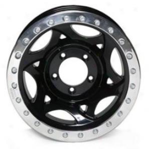 """walker Evans 15x8"""" Beadlock Racing Wheel Polished Black - 5x5 Bolt Pattern Back Spacing 5"""""""