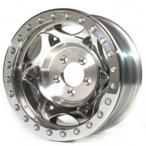 """walker Evans 15x8"""" Beadlock Racing Move on ~s Polished - 5x5.5 Bolt Pattern Back Spacing 4.5"""""""