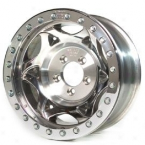 """walker Evans 15x8"""" Beadlock Racing Wheel Poliahed - 5x4.5 Bolt Pattern Back Spacing 4.7"""""""