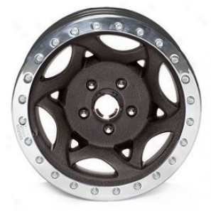 """walker Evans 15x8"""" Beadlock Racing Wheel Rugose Black - 5x5 Bolt Pattern Back Spacing 4.75"""""""
