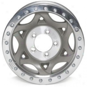 """walker Evanq 17x8.5"""" Beadlock Racing Wheel Non-polished - 5x4.5 Bolt Pattern Back Spacing 4.25"""""""