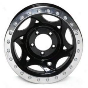 """walker Evans 17x.5"""" Beadlock Racing Wheel Burnished Black - 5x4.5 Bolt Pattern Back Spacing 3.75"""""""