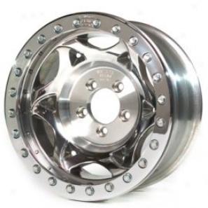 """""""walker Evans 17x8.5"""""""" Beadlock Racing Wheel Polishhed - 5x5.5 Bolt Specimen Back Spacing 4.75"""""""""""""""