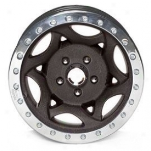 """walker Evans 17x8.5"""" Beadlock Racing Wheel Wrinkled Black - 5x5.5 Bolt Pattern Back Spacing 4.5"""""""