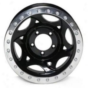 """salker Evans 17x8.5"""" Street Racing Wheel Polished Black - 5x4.5 Bolt Pattern Back Spacing 6"""""""