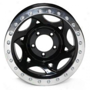 """walker Evans 17x8.5"""" Street Racing Wheel Polished Black - 5x5 Bolt Pattern Back Spacing 5 1/4"""""""