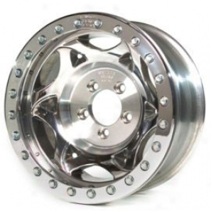 """walker Evans 17x8.5"""" Strer tRacing Wheel Polished - 5x5.5 Bolt Pattern Aid Spacing 5 1/2"""""""