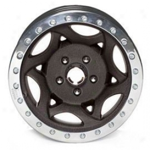 """walker Evans 16x8.5"""" Street Racing Wheel Wrikled Black - 5x5.5 Bolt Pattern Back Spacing 3 3/4"""""""