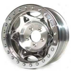 """walker Evans 20x8.5"""" Street Racing Wheel Polished - 5x5 Bolt Pattern Back Spacing 5"""""""