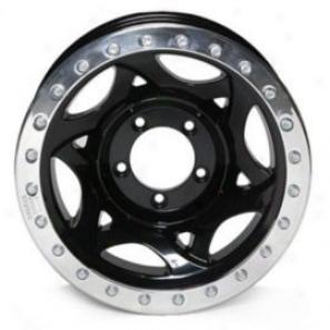 """""""walmer Evans 20x8.5"""""""" Road Racing Wheel Polished Black - 5x5.5 Bolt Specimen Back Spacing 4 3/4"""""""""""""""