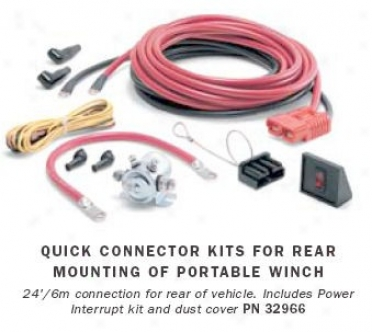 Warn 24 Ft Quick Connect Power Cable