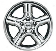 """wheel, 15"""" X 7"""" Silver Star Polished W/ Clear Coat Mopar"""