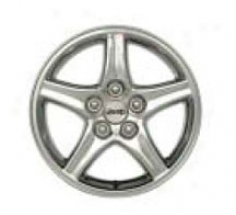 """wheel, 15""""x8"""" 5-spoke Chrome Plated W/ Jeep Logo Center"""