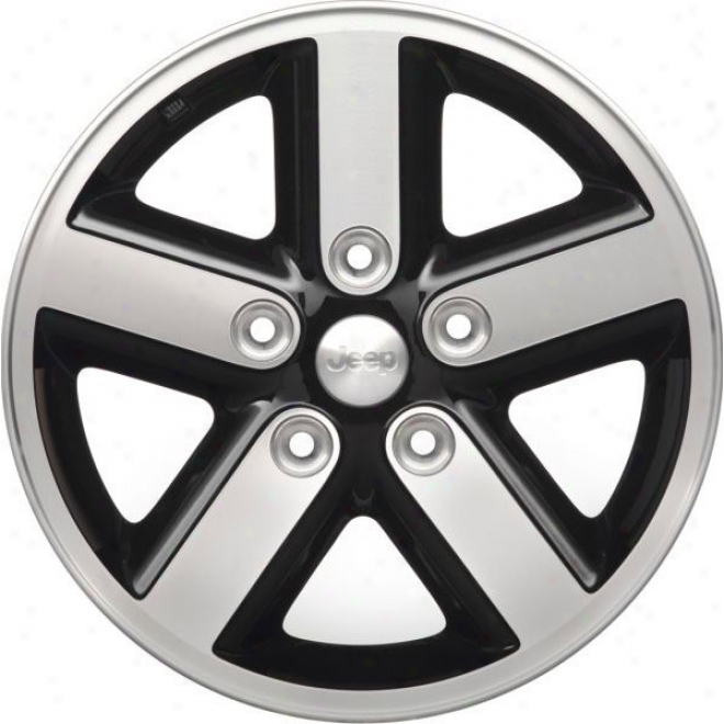 """wheel, 16""""x7"""" 5 Spoke Aluminum W/ Jeep Logo Mopar"""