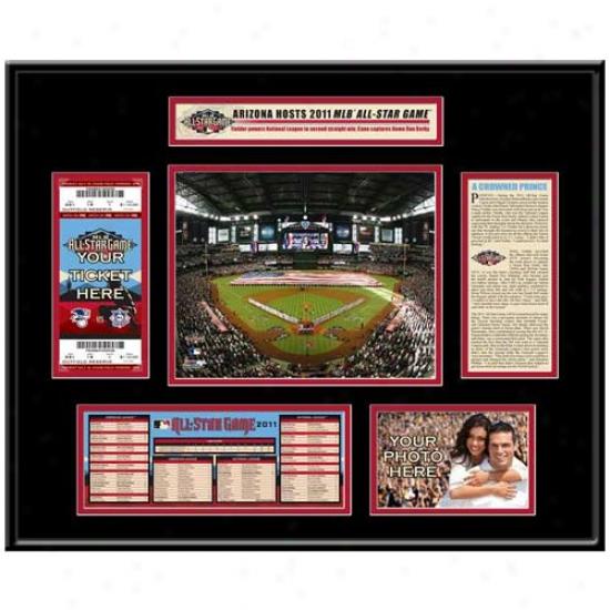 2011 Mlb All-star Game Ticket Frame