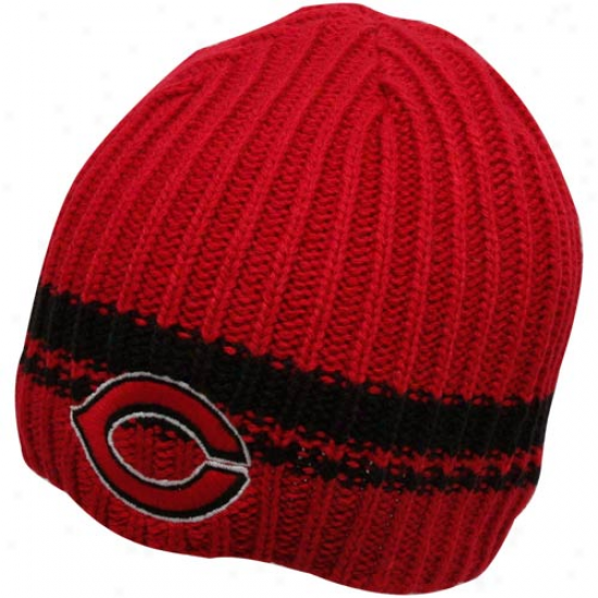 '47 Brand Cincinnati Reds Red Ontario Cable Knit Beanie
