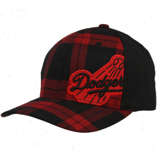'47 Brand L.a. Dodgers Red-black Bosco Closer Foex Fit Hat