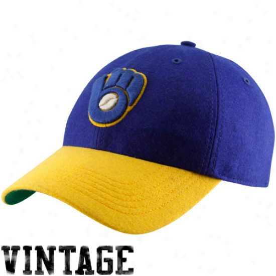 '47 Kind Milwaukee Brewers Royal Blue-gold Cooperstown Brooksby Flex Qualified Cardinal's office