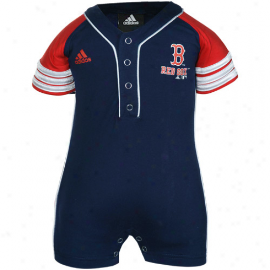 Adidas Boston Red Sox Infant Navy Blue Jersey Romper