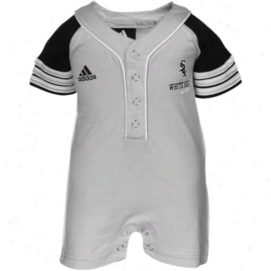 Adidas Chicago White Sox Infant Ash Jersey Romper
