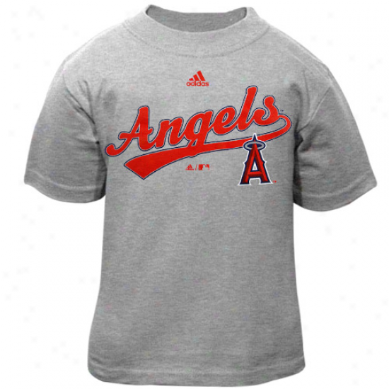 Adidas Los Angeles Angels Of Anaheim Toddler Ash Script T-shirt