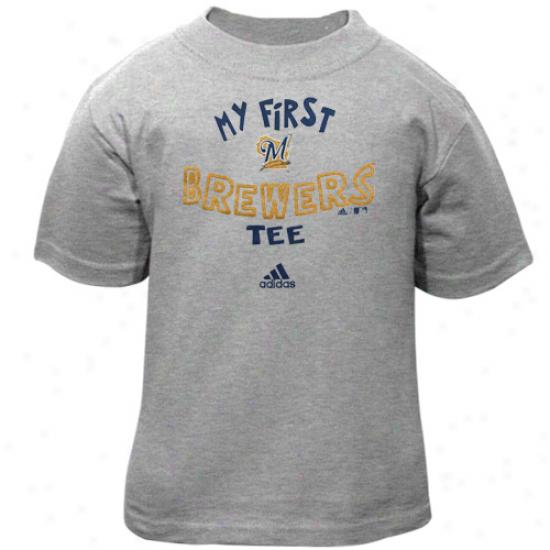 Adidas Milwaukee Brewers Babe Ash The Otuer First T-shirt