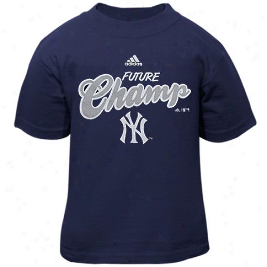 Adidas New York Yankees Toddler Navy Blue Futurity Champ T-shirt