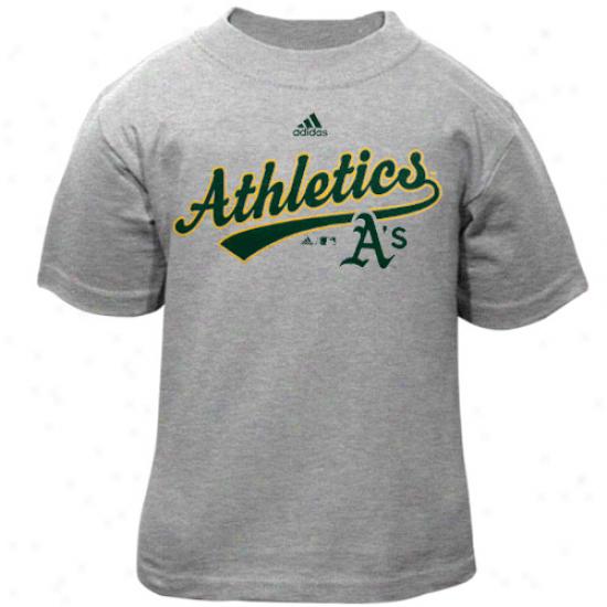 Adidas Oakland Athletics Toddler Ash Script T-shirt