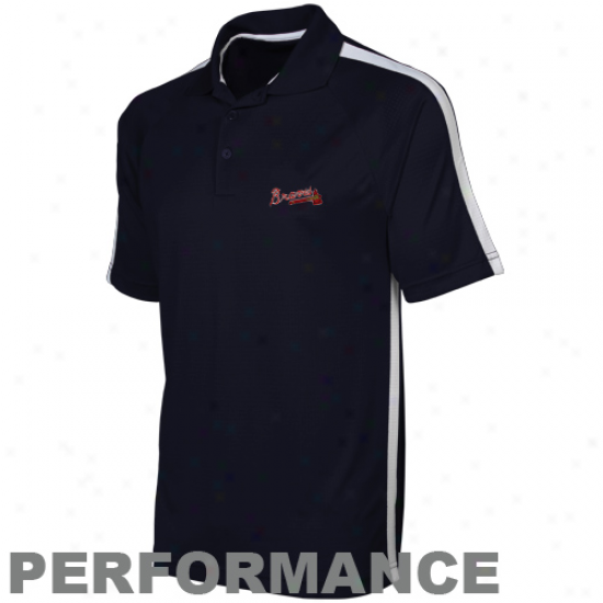 Antigua Atlanta Braves Navy Blue Rdvel Performance Polo