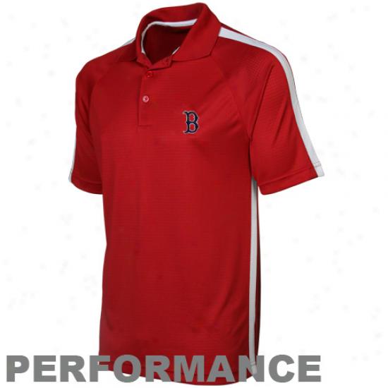 Antigua Boston Red Sox Red Revel Pe5formance Polo