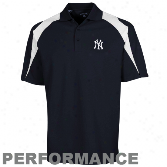 Antihua New York Yankees Navy Blue Introduce novelties Performance Polo