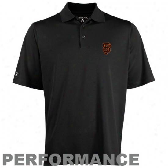 Antigua San Francisco Giants Black Exceed Polo