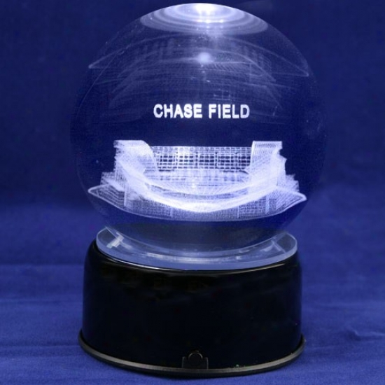 Arizona Diamondbacks Baseball Stadium 3d Laser Globe