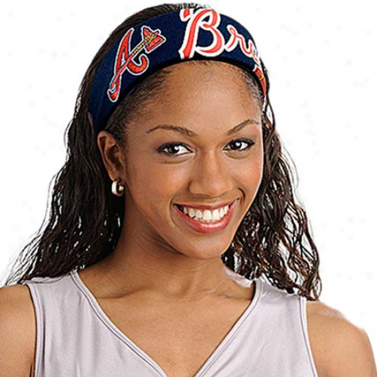 Atlanta Barves Ladies Navy Blue Fanband Jersey Headband