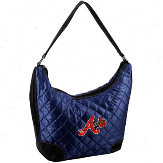 Atlanta Braves Ladies Navy Blue Quilted Hobo Purse