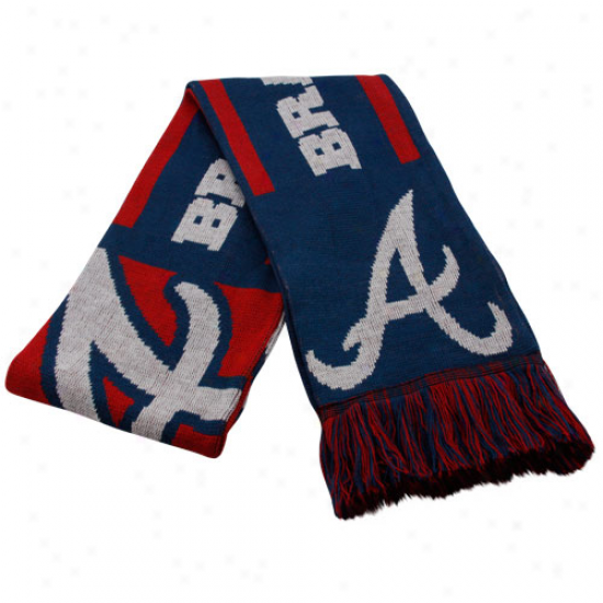 Atlanta Braves Ships of war Melancholy Team Fringed Knit Scarf