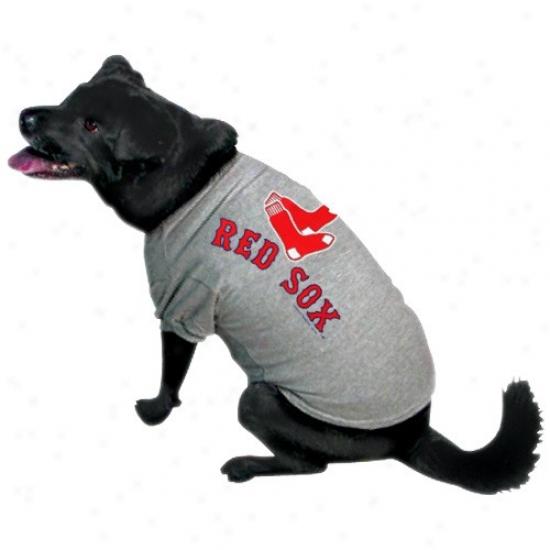 Boston Red Sox Ash Logo Pet T-shirt
