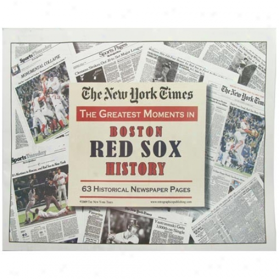 Boston Red Sox Greatest Momejts Newspaper