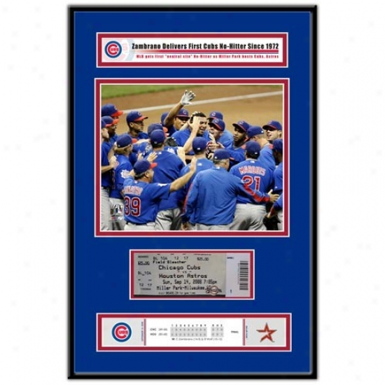 Chicago Cubs Carlos Zambrano No-hitter Ticket Frame