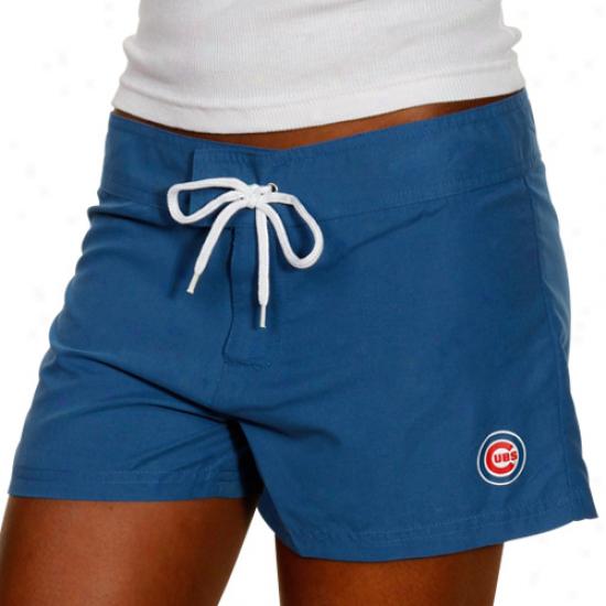 Chicago Cubs Ladies Kingly Blue iMcrofiber Boardshorts