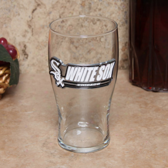 Chicago White Sox 16oz. Pewter Logo Pub Glass