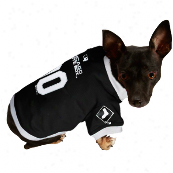 Chicago White Sox Black Mesh Pet Jersey