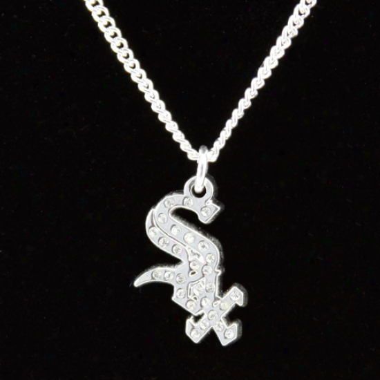 Chicago White Sox Crystal Logo Necklace