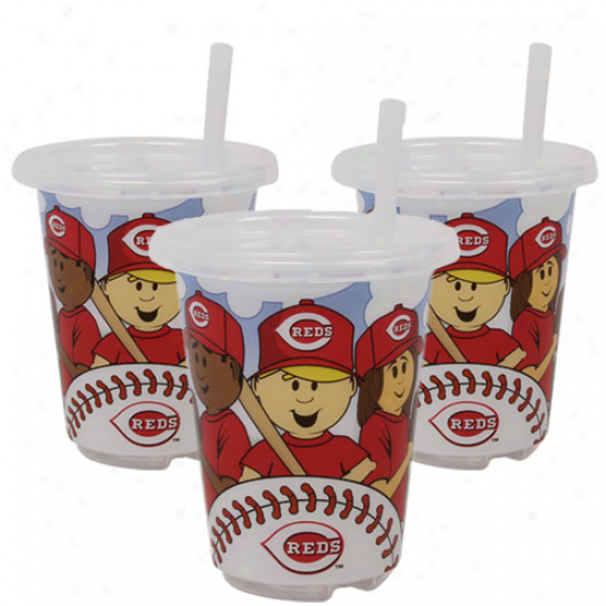 Cincinnati Reds 3-pack 10oz. Sp N' Go Plastic Cups