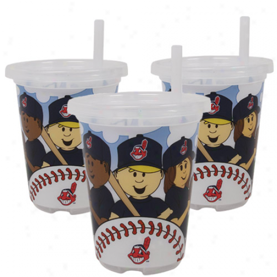 Cleveland Indians 3-pck 10oz. Sip N' Go Plastic Cups