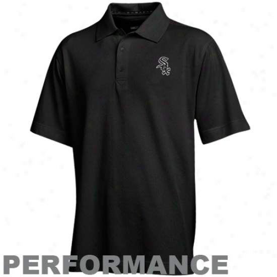 Cutter & Buck Chicago White Sox Black Championship Performance Polo