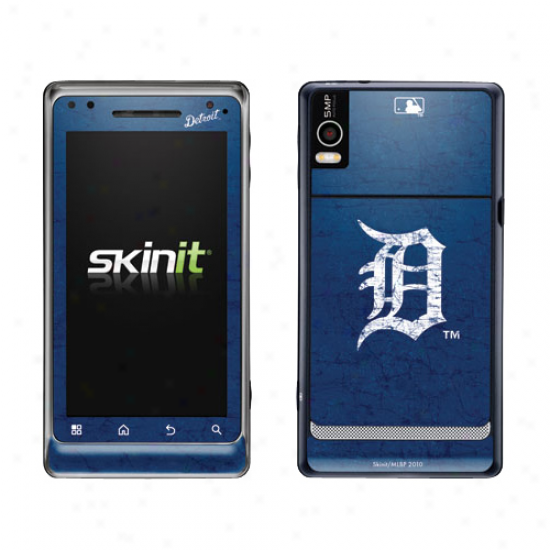 Detroit Tigers aNvy Blue Droid 2 Distressed Skin