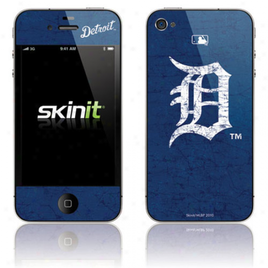 Detroit Tigers Navy Blue Iphone 4 Distressed Skin