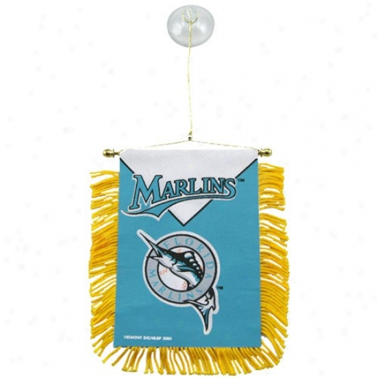 """florida Marlins 3.5"""" X 4.5"""" Team Mini Banner Flag"""